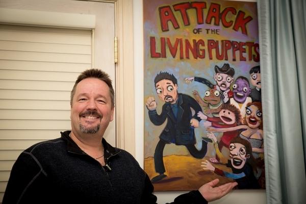 Ventriloquist and Mirage headliner Terry Fator displays his show biz memorabilia in the hall.   TONYA HARVEY/REAL ESTATE MILLIONS