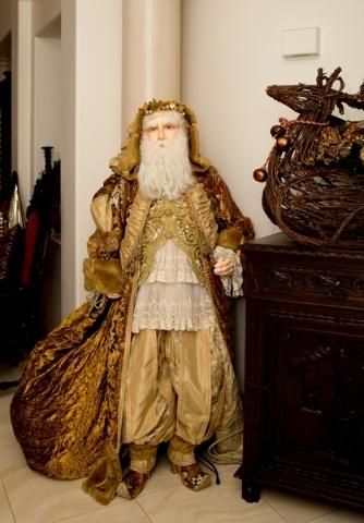 A life-size St. Nicholas greets visitors at the front door.   TONYA HARVEY/REAL ESTATE MILLIONS