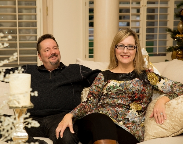 Terry Fator and Angie Fiore were married Nov. 28.   TONYA HARVEY/REAL ESTATE MILLIONS