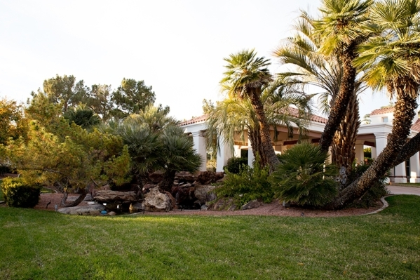 The 7,500-square-foot main houe and 750-square-foot guest house sits on nearly 2 acres in southeast Las Vegas.   TONYA HARVEY/REAL ESTATE MILLIONS
