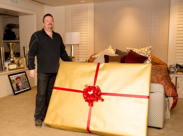 The day Real Estate Millions visited Las Vegas performer Terry Fator at his southeast home his Christmas present for his wife, Angie Fiore, had just been delivered.   TONYA HARVEY/REAL ESTATE MILLIONS