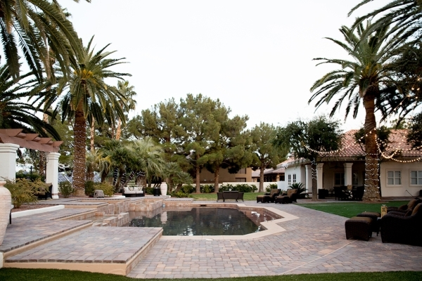 The pool area has a spa and outdoor kitchen.   TONYA HARVEY/REAL ESTATE MILLIONS