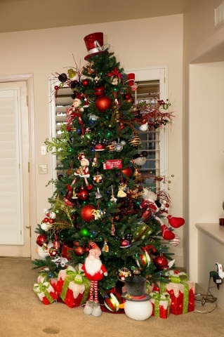 One of three Christmas trees in Terry Fator's home.   TONYA HARVEY/REAL ESTATE MILLIONS