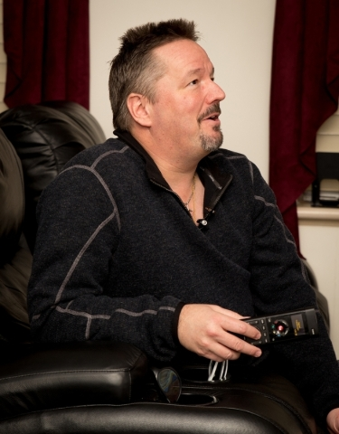 Terry Fator made sure that almost every room is equipped with Kaleidescape, a service that allows any of approximately 1,800 movie titles to be viewed from those rooms.   TONYA HARVEY/REAL ESTATE  ...