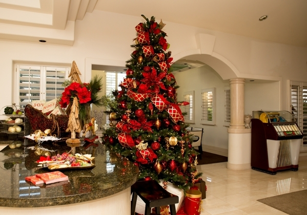 One of three Christmas trees in the home.   TONYA HARVEY/REAL ESTATE MILLIONS