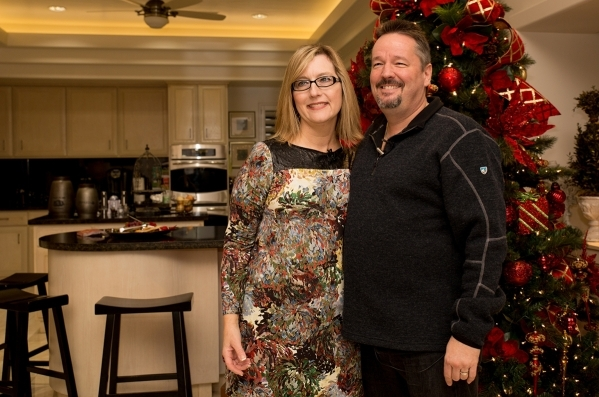 Las Vegas ventriloquist Terry Fator and Angie Fiore were married Nov. 28. The couple invited Real Estate Millions to tour their decorated home just after Thanksgiving, and not surprisingly, it loo ...