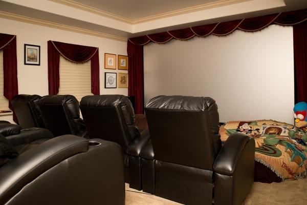 The home theater.   TONYA HARVEY/REAL ESTATE MILLIONS