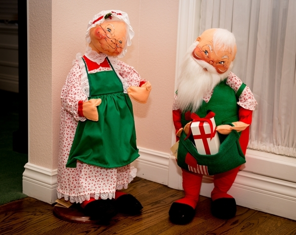 """""""I've been collecting Annalee dolls for 35 years,"""" Barbara Heinrich says. """"They all have such happy little faces. ... I just love Christmas. I love seeing people being happy,  ..."""