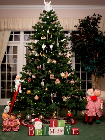 One of the Christmas trees in the Heinrich home.  TONYA HARVEY/REAL ESTATE MILLIONS