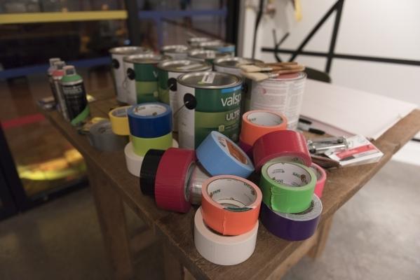 Art supplies at P3 Studio in The Cosmopolitan of Las Vegas are seen Wednesday, Dec. 9, 2015. Jason Ogulnik/Las Vegas Review-Journal