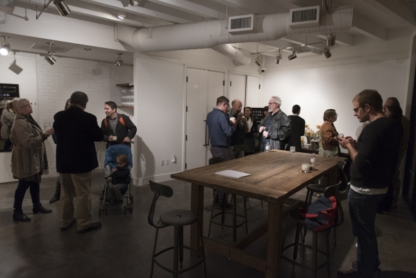 The artists mingle with attendees at P3 Studio in The Cosmopolitan of Las Vegas Wednesday, Dec. 9, 2015. Jason Ogulnik/Las Vegas Review-Journal