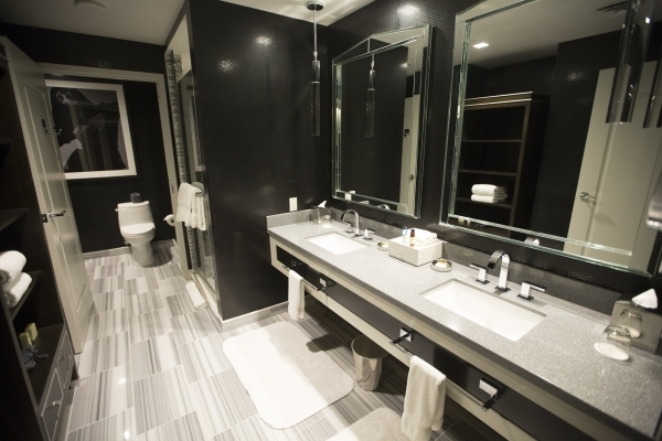 A executive suite bathroom is seen at  Cosmopolitan of Las Vegas, 3708 S. Las Vegas Boulevard, on Thursday, Dec. 10, 2015.Jeff Scheid/Las Vegas Review-Journal Follow him @jlscheid