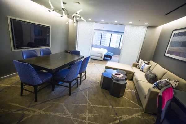 A executive suite room is seen at  Cosmopolitan of Las Vegas, 3708 S. Las Vegas Boulevard, on Thursday, Dec. 10, 2015.Jeff Scheid/Las Vegas Review-Journal Follow him @jlscheid