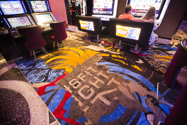 Colorful new carpet with phrases is seen in the gaming area at  Cosmopolitan of Las Vegas, 3708 S. Las Vegas Boulevard, on Thursday, Dec. 10, 2015.Jeff Scheid/Las Vegas Review-Journal Follow him @ ...