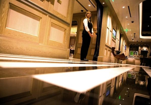 A staff stands in The Talon Club at  Cosmopolitan of Las Vegas, 3708 S. Las Vegas Boulevard on  Thursday, Dec. 10, 2015 .Jeff Scheid/Las Vegas Review-Journal Follow him @jlscheid