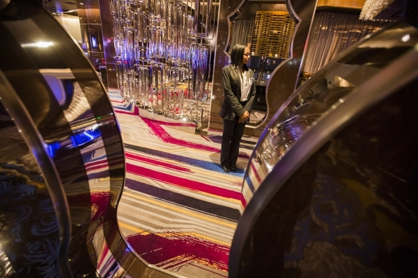 Shayla Evans greets visitors to the new high limit room  at The Cosmopolitan of Las Vegas, 3708 S. Las Vegas Boulevard, on Tuesday, Dec. 22, 2015. Jeff Scheid/ Las Vegas Review-Journal Follow @jls ...