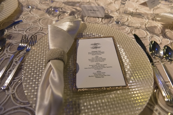 A table setting in the Special Events Design Lab, designed and sponsored by MGM Resorts Event Productions, at The International School of Hospitality in Las Vegas is seen Wednesday, Dec. 9, 2015.  ...
