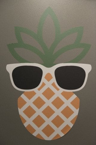 A pineapple decal is seen on a wall at The International School of Hospitality in Las Vegas Wednesday, Dec. 9, 2015. Jason Ogulnik/Las Vegas Review-Journal