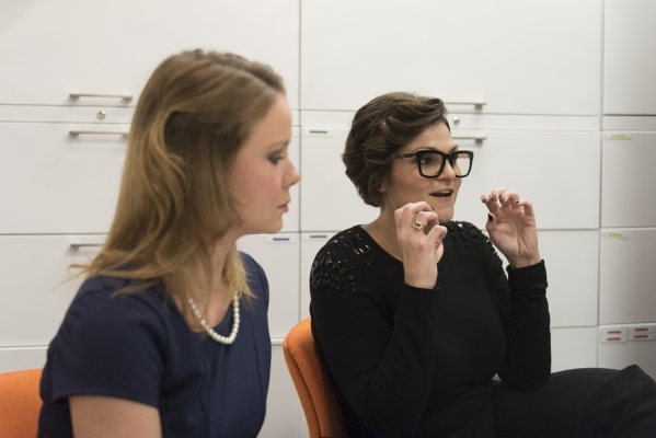 Instructor Brit Bertino, right, and Sarah Wandall talk to a reporter at The International School of Hospitality in Las Vegas Wednesday, Dec. 9, 2015. Jason Ogulnik/Las Vegas Review-Journal