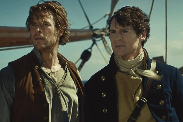 "Chris Hemsworth, left, as Owen Chase and Benjamin Walker as George Pollard star in ""In the Heart of the Sea."" WARNER BROS. PICTURES"
