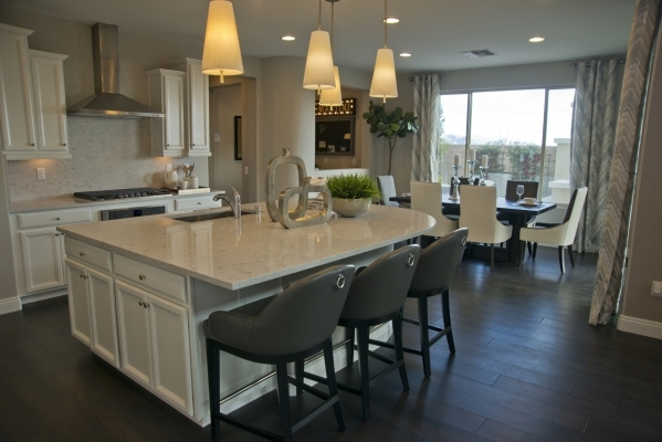 A model home is seen inside the Evergreen subdivision of the Skye Canyon master-planned community just off U.S. Highway 95 at Skye Canyon Drive in northwest Las Vegas on Monday, Dec. 14, 2015. Dan ...