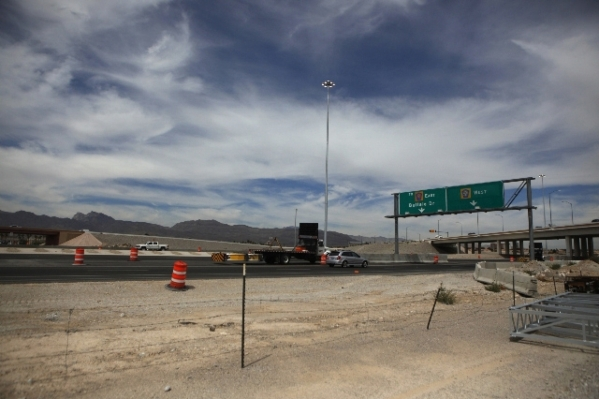 The Centennial Bowl Interchange is seen during a groundbreaking ceremony for phase three of the improvement project near U.S. Highway 95 and the westbound 215 Beltway Aug. 6. Erik Verduzco/View fi ...