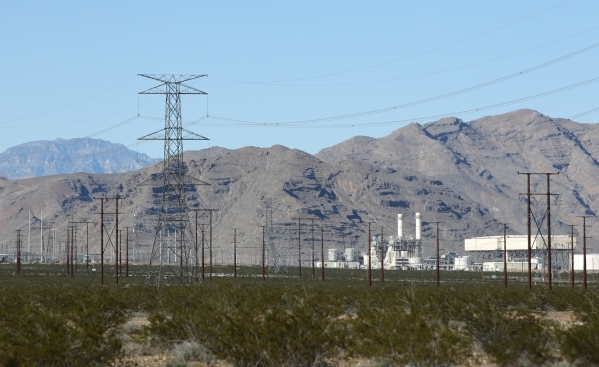 The Harry Allen Generating Station, owned by NV Energy, Inc., is seen at the Apex Industrial Park north of Las Vegas on Wednesday, Nov. 18, 2015. Brett Le Blanc/Las Vegas Review-Journal Follow @bl ...