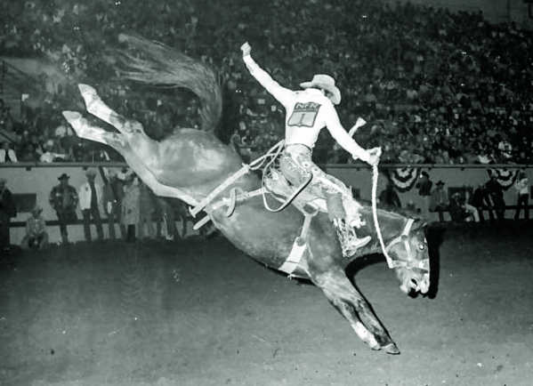 Hall of Fame cowboy Larry Mahan, plying his trade back in his heyday, will be among those on hand today for the Gold Card Reunion luncheon at the Palms. COURTESY PHOTO
