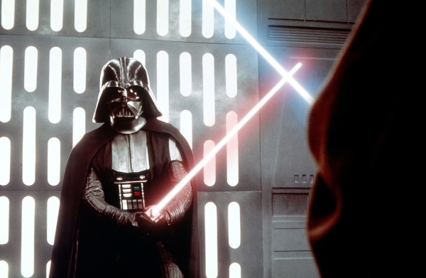 """Darth Vader appears in a scene from """"Star Wars."""" (Courtesy of Lucasfilm)"""