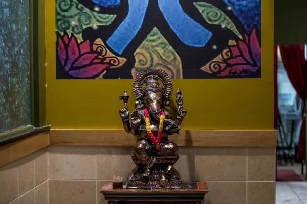 A statue of Ganesh sits in the interior of Curry Leaf in Las Vegas on Saturday, Dec. 12, 2015. Joshua Dahl/Las Vegas Review-Journal