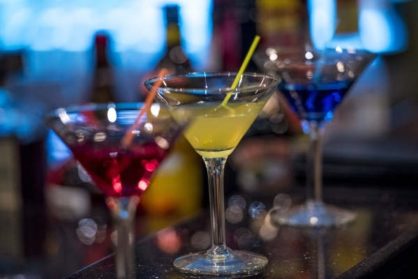 Cocktails rest on the bar at Curry Leaf in Las Vegas on Saturday, Dec. 12, 2015. Joshua Dahl/Las Vegas Review-Journal
