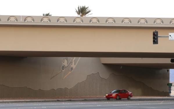 I-15 and Lamb Boulevard is shown Monday, Dec. 14, 2015, where a woman was shot to death Sunday night. Bizuayehu Tesfaye/Las Vegas Review-Journal Follow @bizutesfaye
