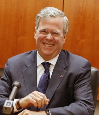 Republican presidential candidate Jeb Bush speaks to the Las Vegas Review-Journal editorial board on Monday, Dec. 14, 2015. Bizuayehu Tesfaye/Las Vegas Review-Journal Follow @bizutesfaye