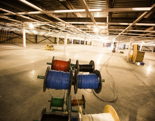 Spools of wire is seen at the Ikea store, at 215 Beltway at Durango Drive, on Thursday, Dec. 17,2015. The 351,000 square foot home furnishing store is scheduled to open next summer. Jeff Scheid/La ...