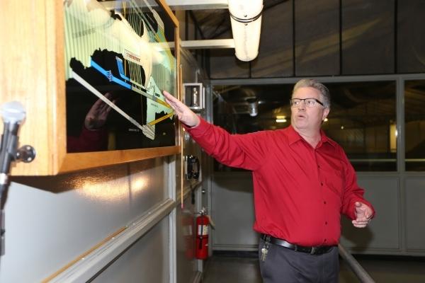 Rob Skordas, area manager for the Lower Colorado Dams Office, gives a tour of the Hoover Dam on Thursday, Dec. 17, 2015. Erik Verduzco/Las Vegas Review-Journal Follow @Erik_Verduzco