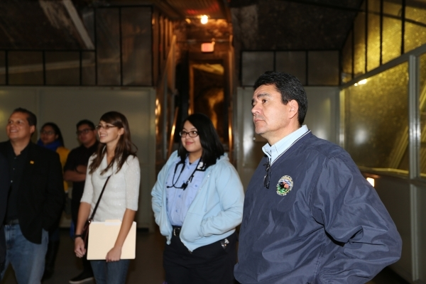 Mike Connor, Deputy Secretary of the U.S. Department of the Interior, right, listens during a tour of the Hoover Dam on Thursday, Dec. 17, 2015. Erik Verduzco/Las Vegas Review-Journal Follow @Erik ...