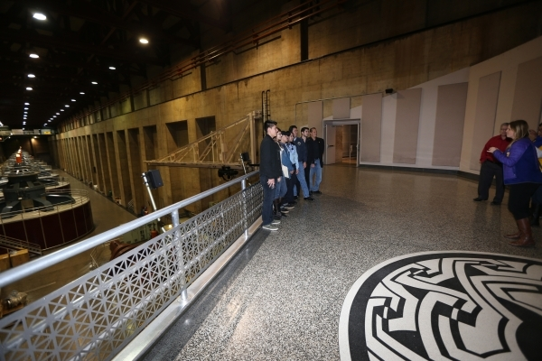 Members of Nuestro Rio, a Latino Colorado River conservation group, tour inside the Nevada power house of the Hoover Dam on Thursday, Dec. 17, 2015. Erik Verduzco/Las Vegas Review-Journal Follow @ ...