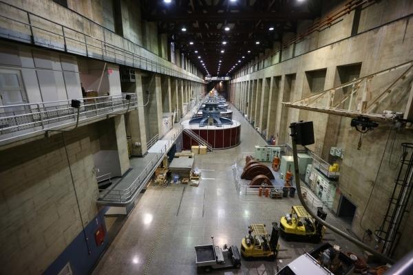 The Nevada power house of the Hoover Dam near Boulder City is seen during a tour on Thursday, Dec. 17, 2015. Erik Verduzco/Las Vegas Review-Journal Follow @Erik_Verduzco