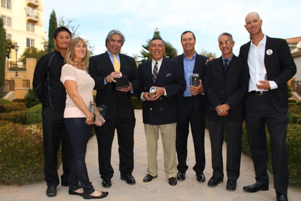 Winners of the USTAþÄàIntermountain 2015 Annual Awards include, from left, Ken Shioi, Karla Shioi, Gil Reyes, George Cantu, Marty Hennessy, Judge Andrew Valdez, and Tim Blenkiron. Special ...