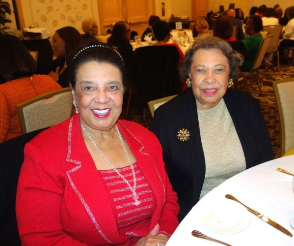 Among the guests at the White Christmas Jazz Luncheon and Fashion Extravaganza Dec. 12 were alumni members of The Links Las Vegas Chapter, Dr. Shirley Bailey, left, a retired dentist, and her sist ...