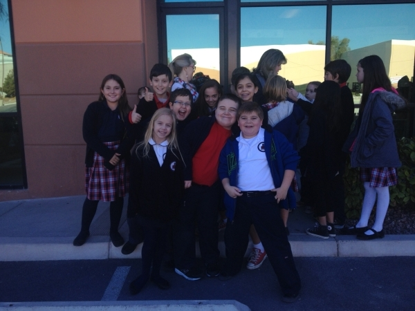 Fourth-graders pose for a photo Dec. 18 at Founders Academy of Las Vegas. Sandy Lopez/View