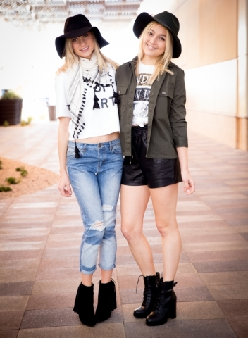 Models Alona M, and Claire S, wearing Forever 21 at Downtown Summerlin. Photo Credit Tonya Harvey.