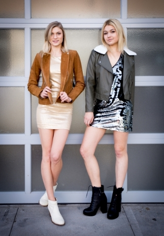 Models Alona M and Claire S, wearing Forever 21 at Downtown Summerlin. Photo Credit Tonya Harvey.