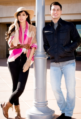 Models Ben B, and Raquel W, wearing accessories from Dillard's. Photo Credit FashionTrend.Vegas.