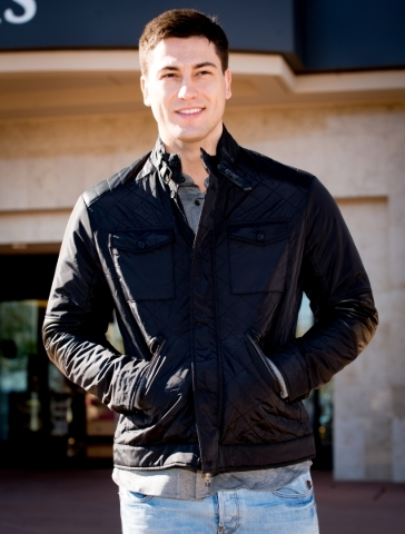 Model Ben B, wearing attire from Dillard's. Photo Credit FashionTrend.Vegas.