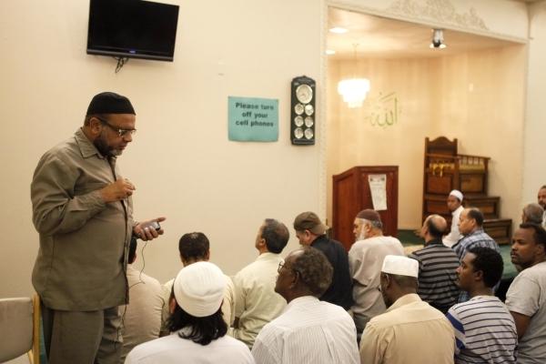 Aslam Abdullah speaks to members of the Islamic Society of Nevada on Sunday, July 5, 2015 in Las Vegas. James Tensuan/Las Vegas Review-Journal