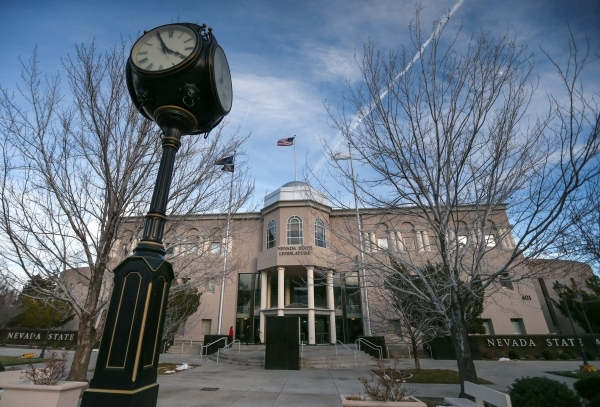 Lawmakers continue working in a special legislative session at the Legislative Building in Carson City, Nev., on Friday, Dec. 18, 2015, to consider an economic development deal between the state a ...