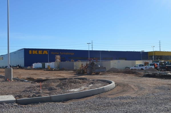 Construction teams work on the IKEA set to open in summer 2016 on 26 acres on the northern side of the 215 Beltway at Durango Drive near Sunset Road. Ginger Meurer/Special to View