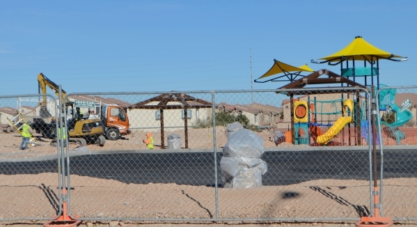 Paiute Park, under construction on Cimarron Road south of Blue Diamond Road, is expected to open in 2016. Ginger Meurer/Special to View