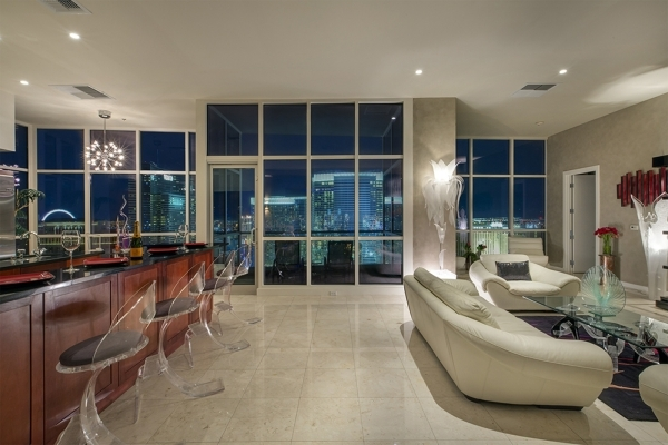 Panorama Towers penthouse has views from every room.   COURTESY